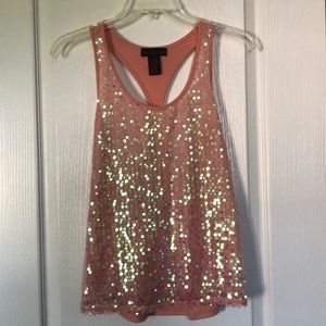 Material Girl Mesh Front Size Small Tank Top